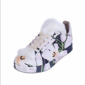 DOLCE & GABBANA TULIP PORTOFINO Leather Sneakers